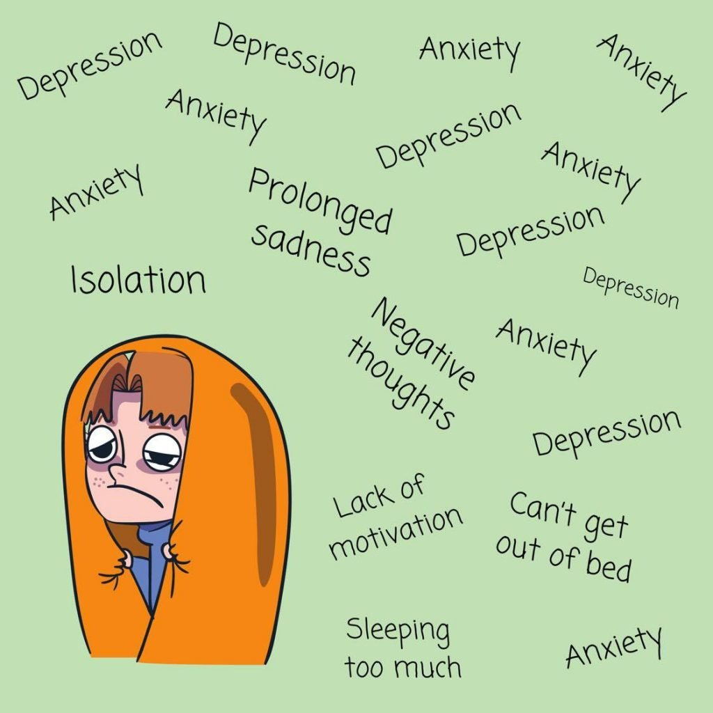 You're experiencing symptoms of mental illness