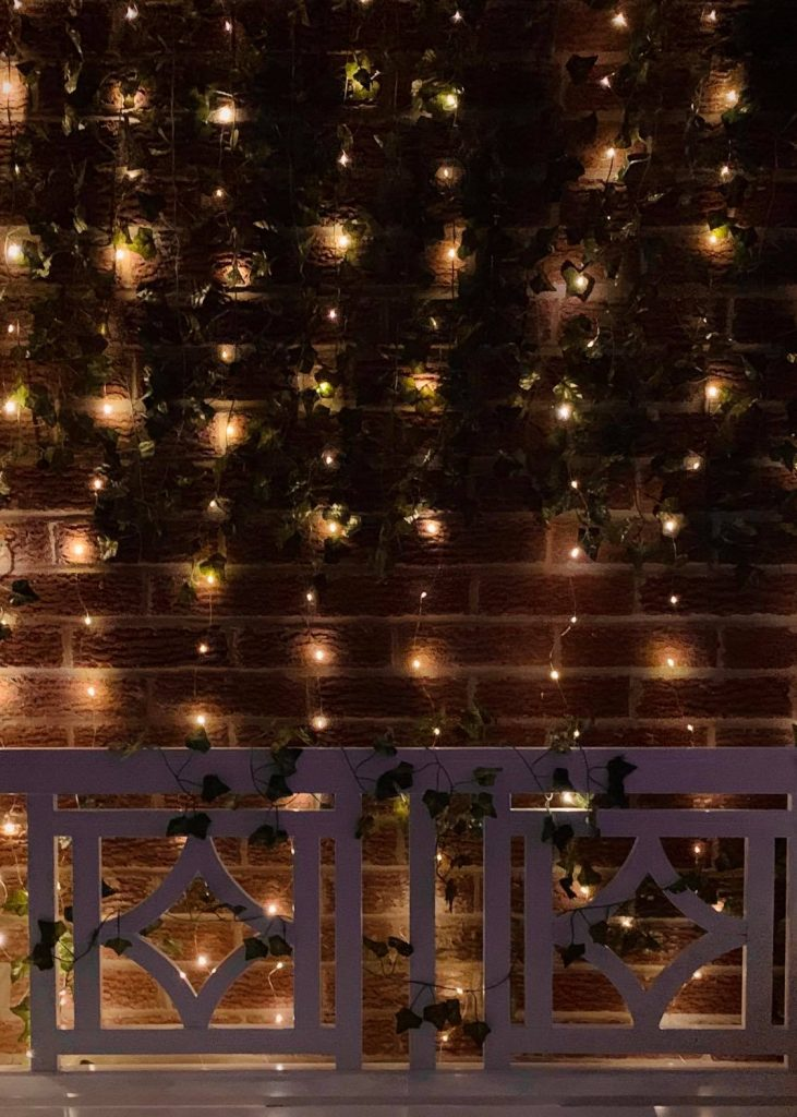Twinkly lights make an outdoor space Pinterest worthy