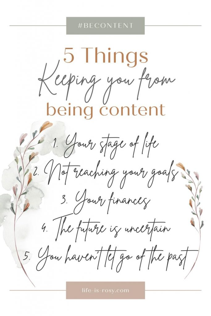 5 things keeping you from being content