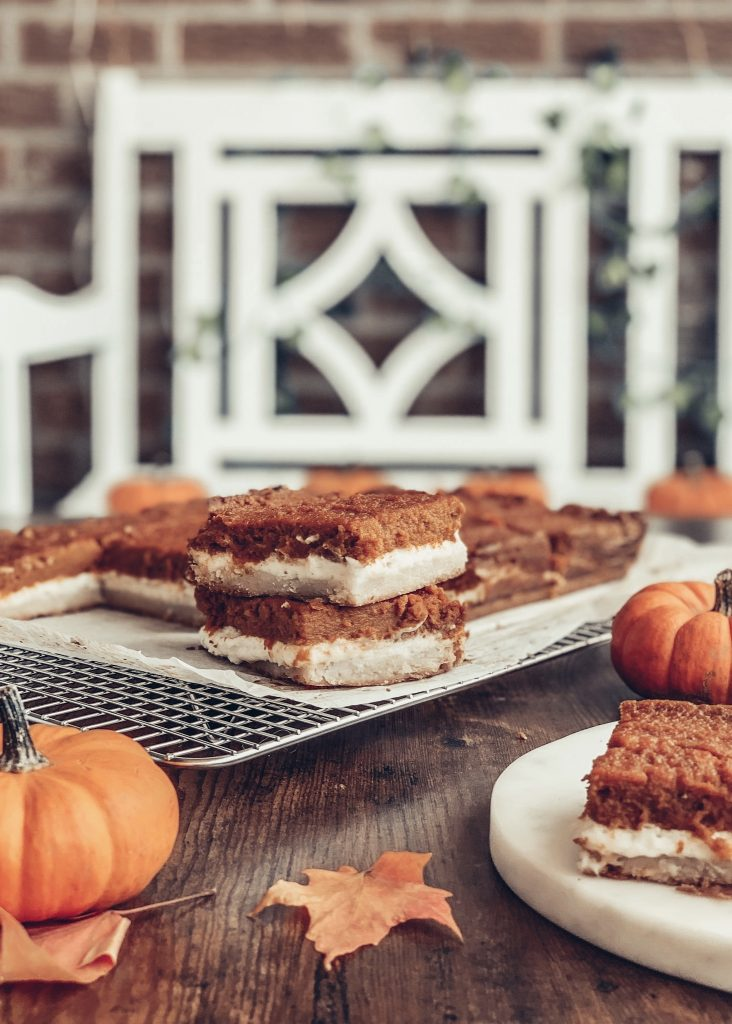 Pumpkin Pie Cheesecake Bars Thanksgiving Dessert