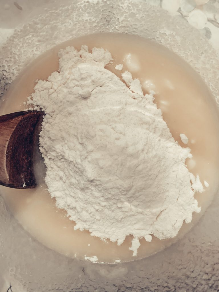 Homemade Crust Ingredients in a bowl