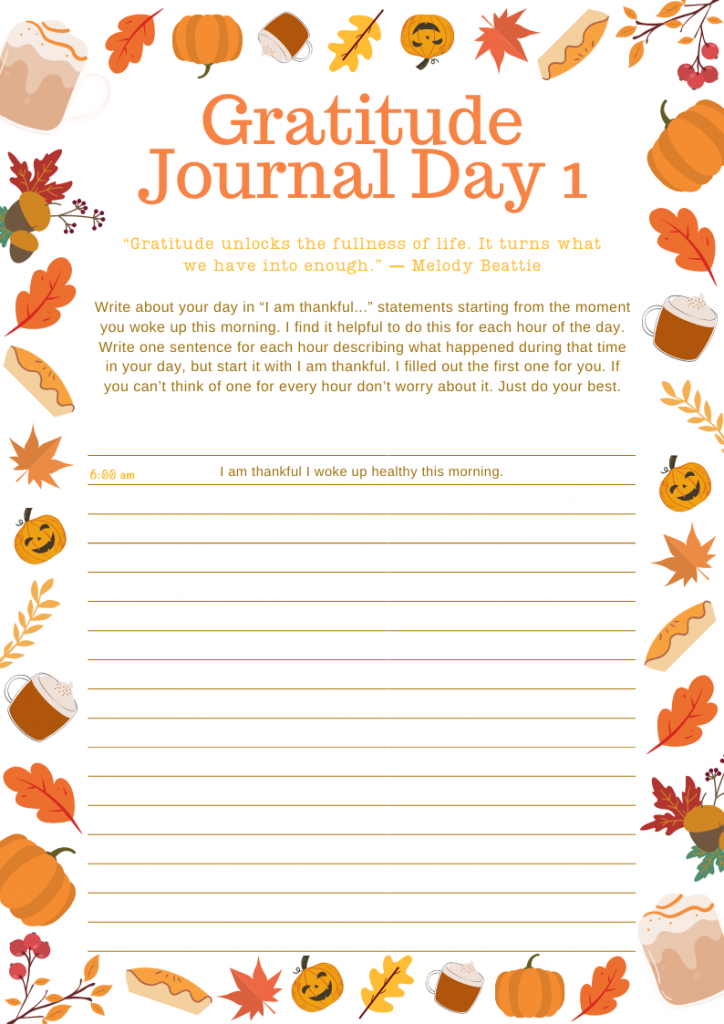 Gratitude Journal Template