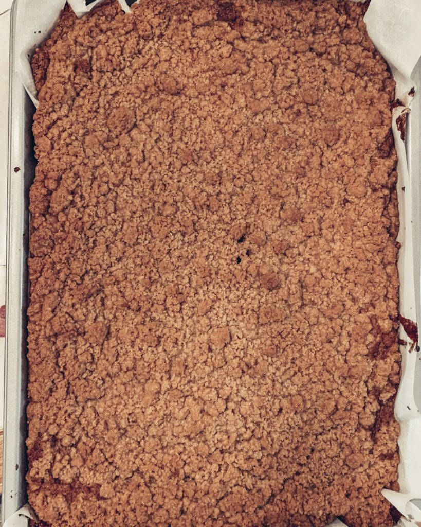 Pumpkin Coffee Cake Out of the Oven