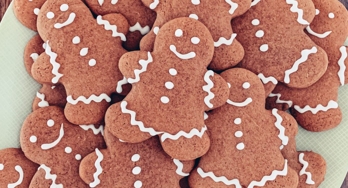 Decorated Soft Gingerbread Cookies
