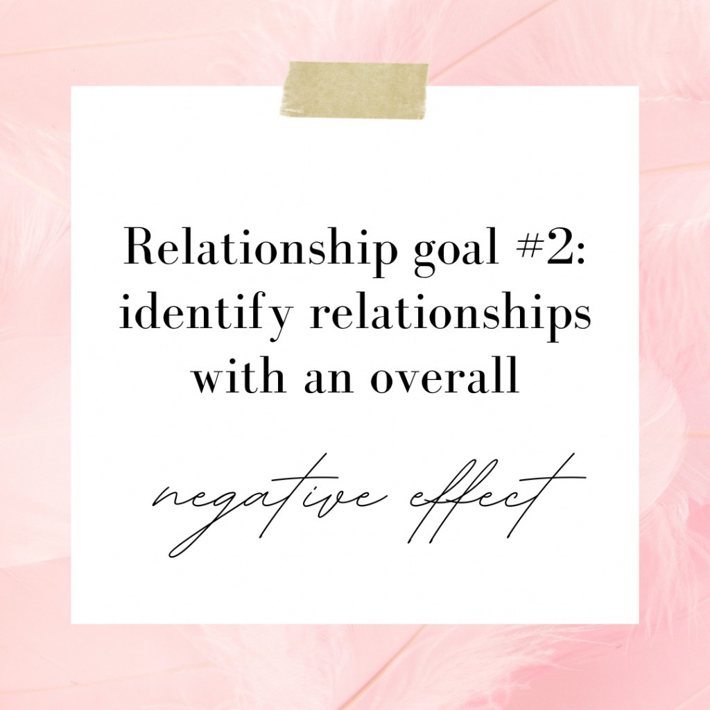 Identify Relationships with an Overall Negative Effect On You